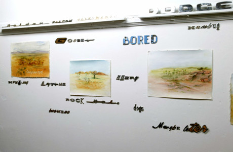 """Toyota go anywhere"" installation, mixed media, winner Wiloughby Art Prize 2006"