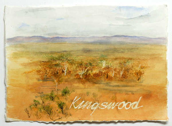 """Kingswood"", watercolour on paper"